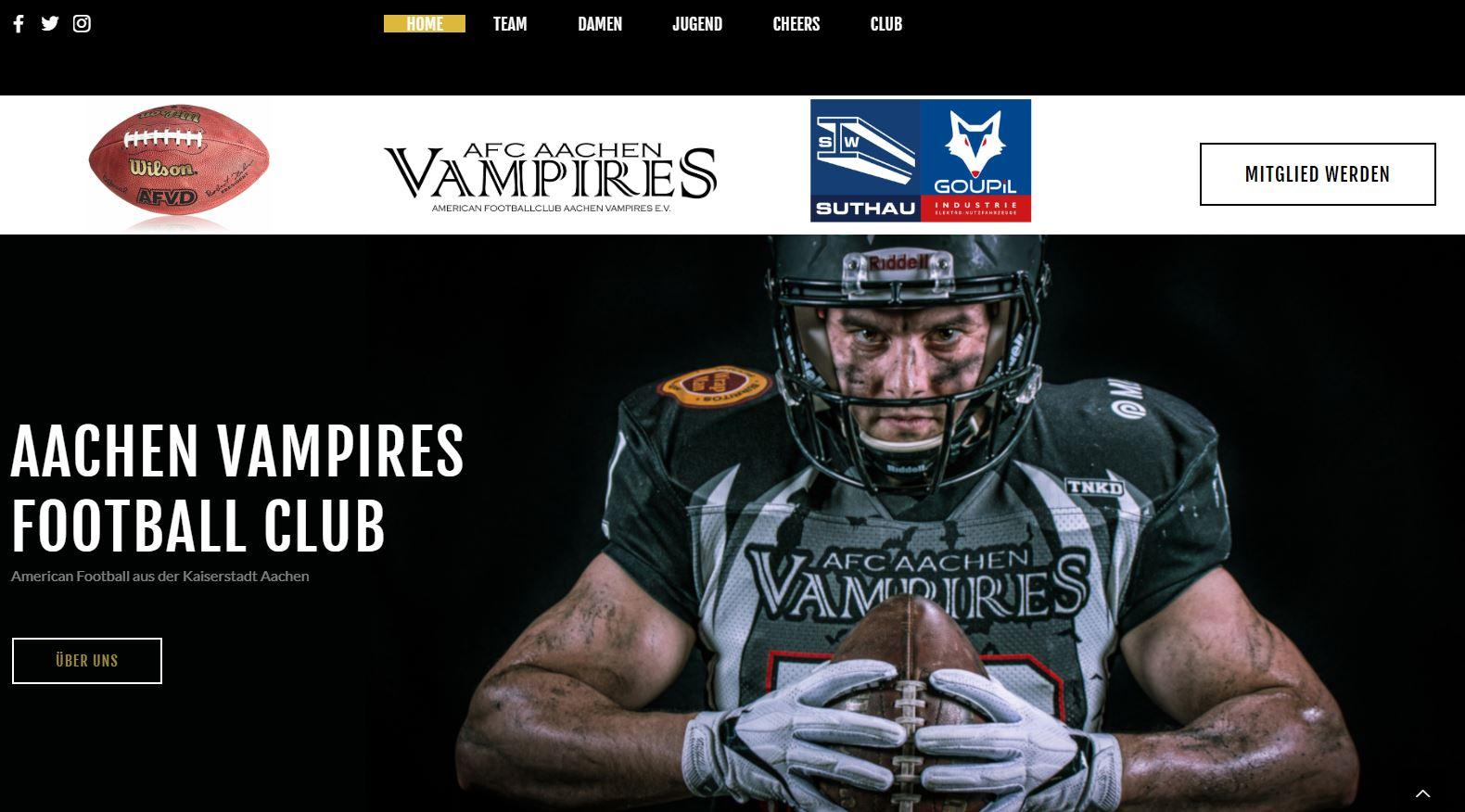 Vampires mitten in der Vorbereitung und mit neuer Website